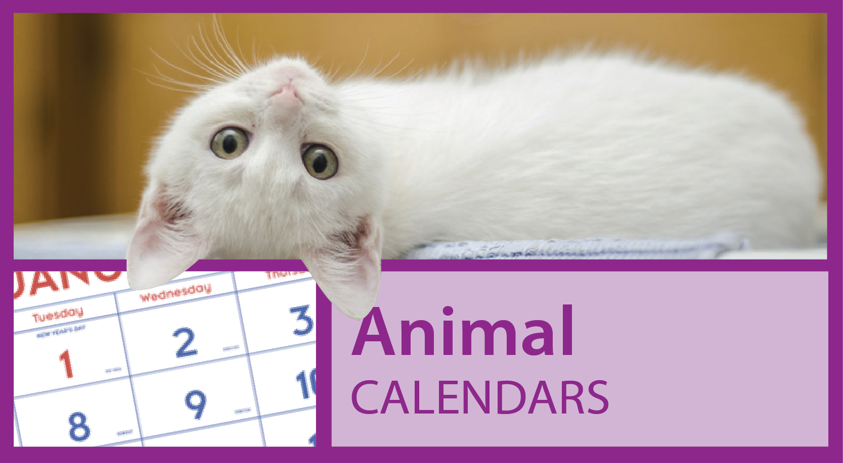 Promotional Animal Calendars https://www.valuecalendars.com/products/standard_imprinted_calendars/promotional_animal_calendars