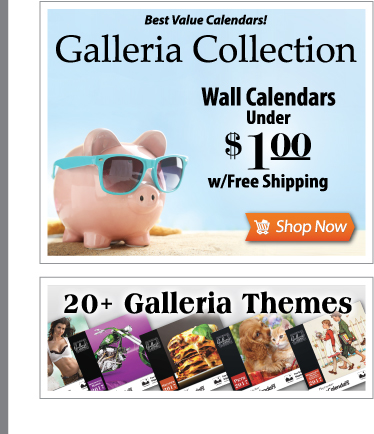 Galleria Collection - Best Value Calendars - Promotional Calendars Under $1.00