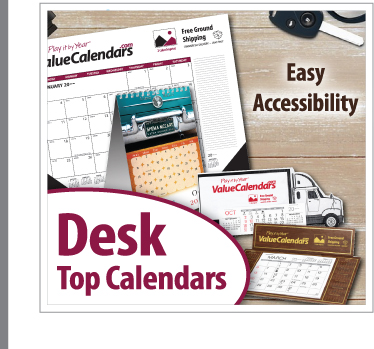 Custom Desk Top Calendars | Promotional Desk Top Pad Calendars