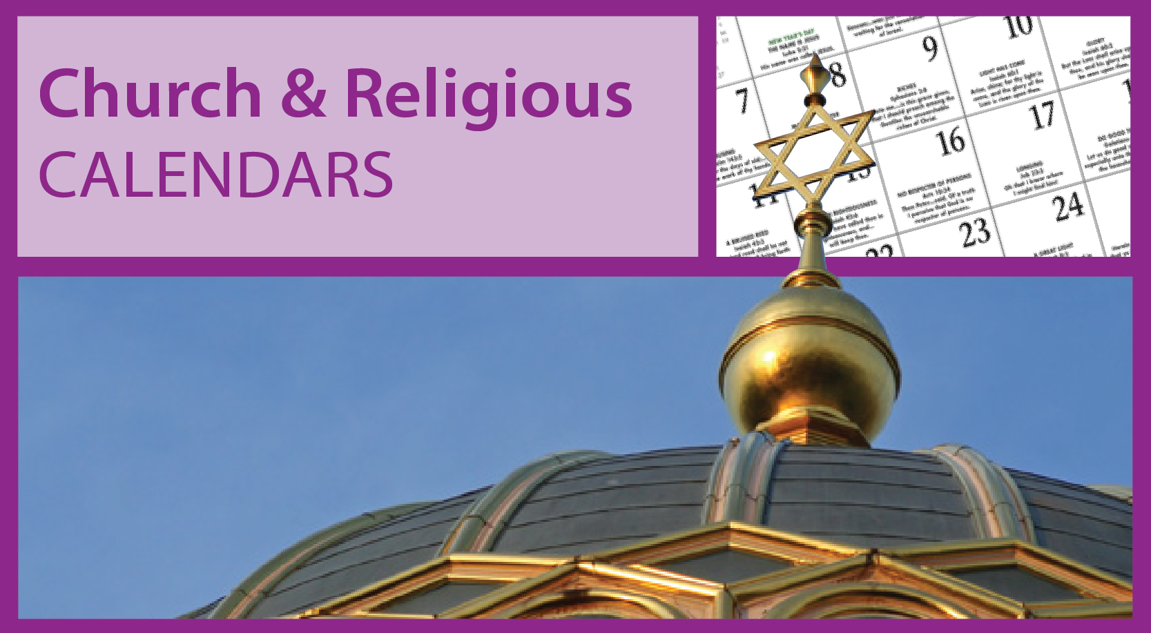 Religious Calendars for Business | Jewish Calendars | Catholic Church Calendars