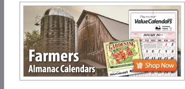 Custom Almanac Calendars | Commercial Farmers Almanac Calendars for Business