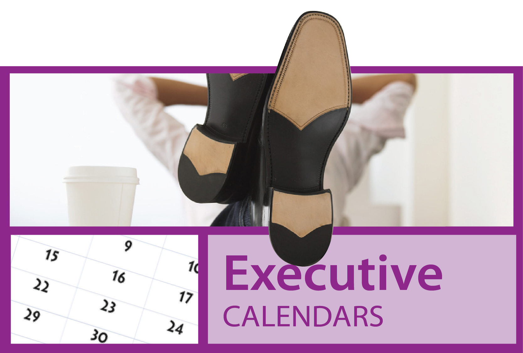 Executive imprint calendars for business