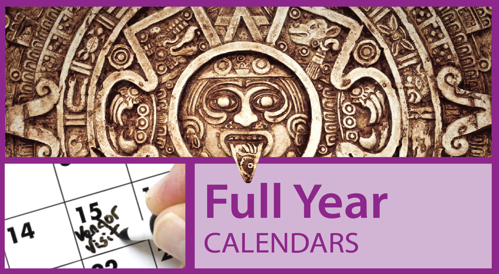 Commercial Full Year View Calendars | Full Year Printed Calendar for Businesses