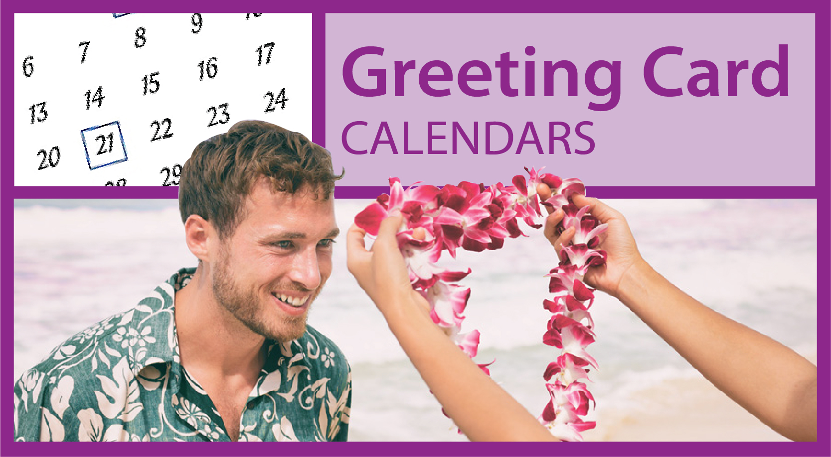 Greeting Card Calendars | Promotional Greeting Card Calendars | Custom Z-Fold Card Calendars