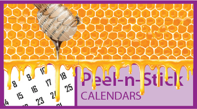 Promotional Peel & Stick (Press-n-Stick) Calendars