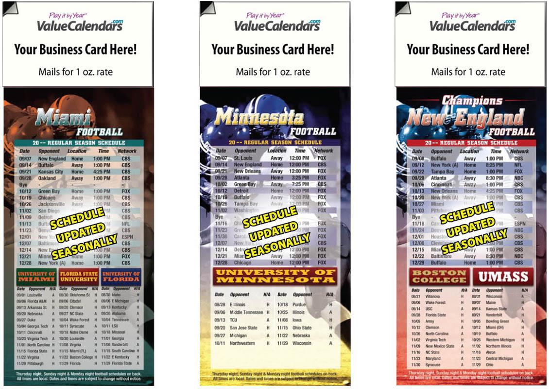 2018 magnetic football schedule bulk calendar 35 x 9 magnet dgi magnetic football schedule blankbulk calendar magicingreecefo Choice Image