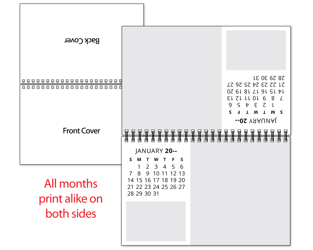 Custom 12-Photo Mid-Size Desk Tent Calendar  sc 1 st  ValueCalendars.com & 2018 Custom 12-Photo Mid-Size Desk Tent Calendar   Custom Printed ...