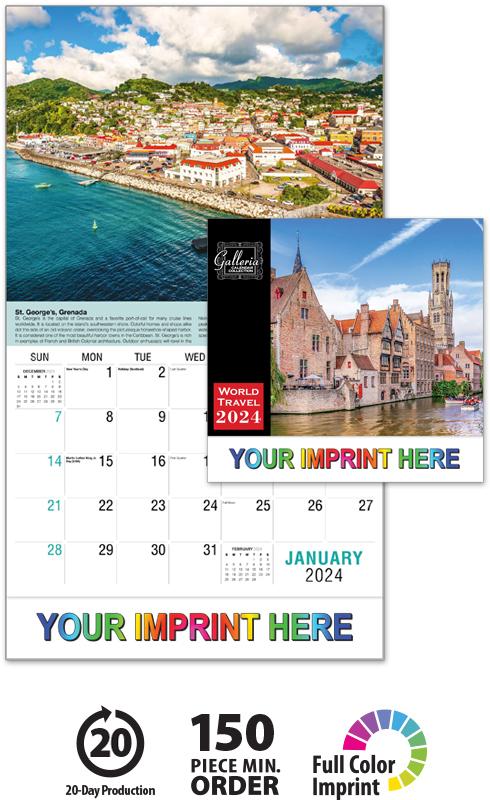2020 Galleria Collection World Travel Calendar | 10-5/8