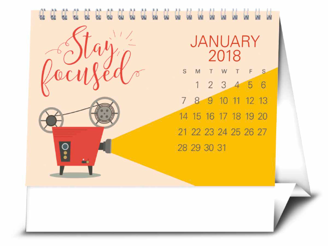 "Quotes 2018 Calendar New 2018 Contemporary Quotes Desk Calendar  712"" X 612"" Imprinted"