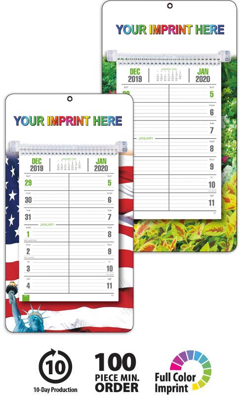 "2019 Bi-Weekly Memo Board, Image Calendar | 7"" x 13"" Imprinted Board ..."