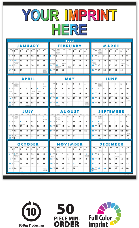 2019 span a year non laminated calendar 22 x 29 imprinted full
