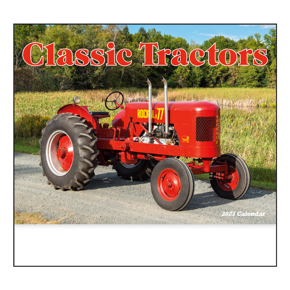 Red Tractor Personalised Jumbo Magnet
