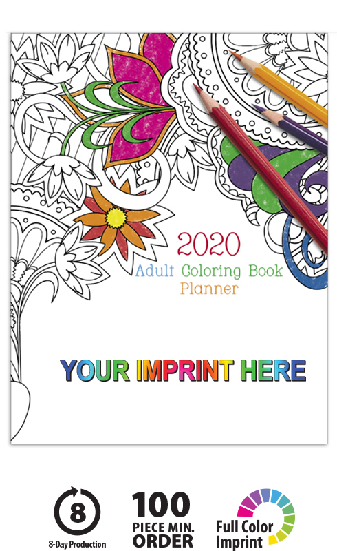 Adult Coloring Book Planner | ValueCalendars.com