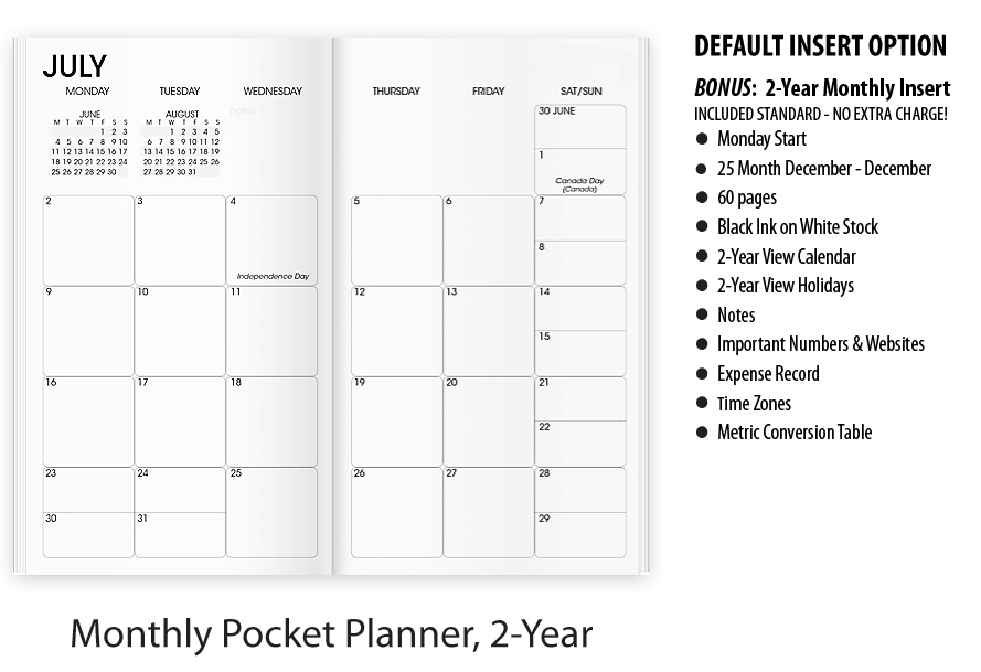 2020 Legacy Curve Pocket Monthly Planner | Custom Imprinted