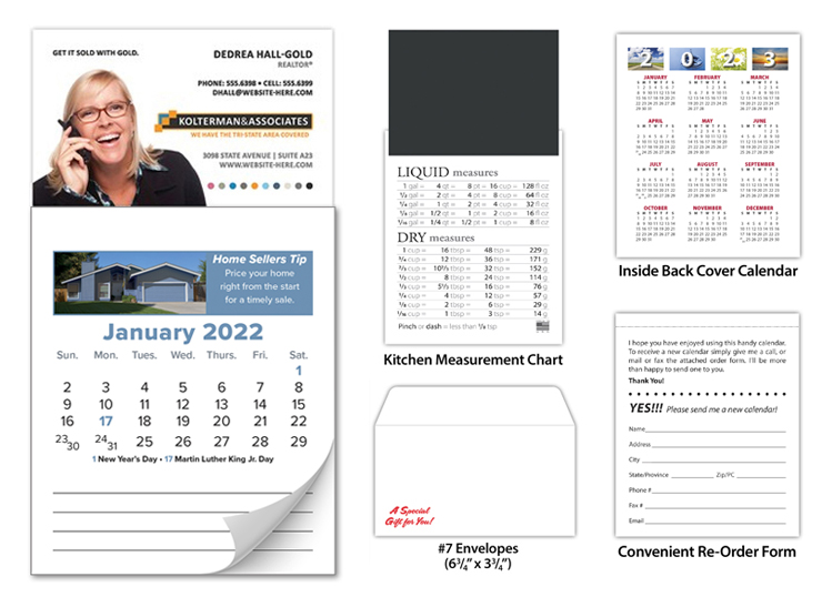 Tradenet MBC Magnetic Real Estate Business Card Calendar ...