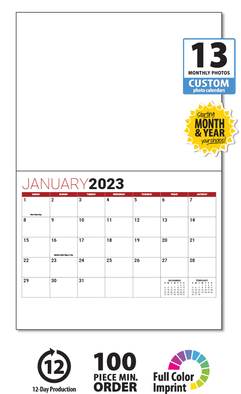 2020 13 Month Custom Photo Wall Calendar Stapled 11 X 17 8 5