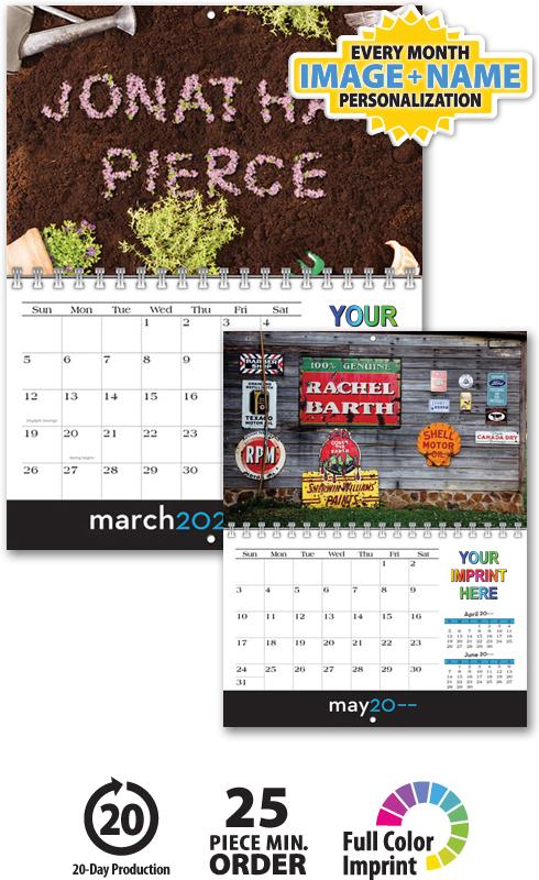 2020 Image Personalized Mini Wall Calendar 8 5 Quot X 11