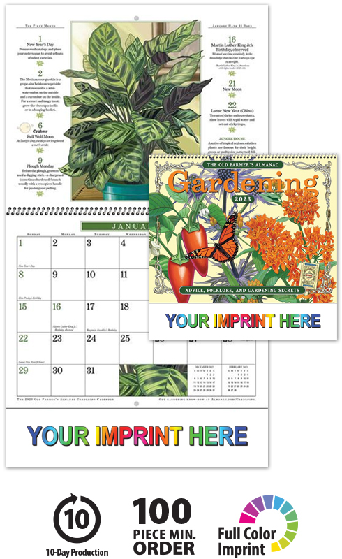2019 Old Farmers Almanac Gardening Spiral Calendar 10 1 2 X 18 1 4 Spiral Bound Drop Ad