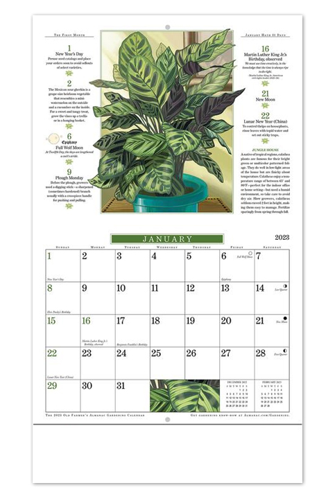 The 2017 old farmers almanac gardening page a day calendar for Gardening 2018 calendar