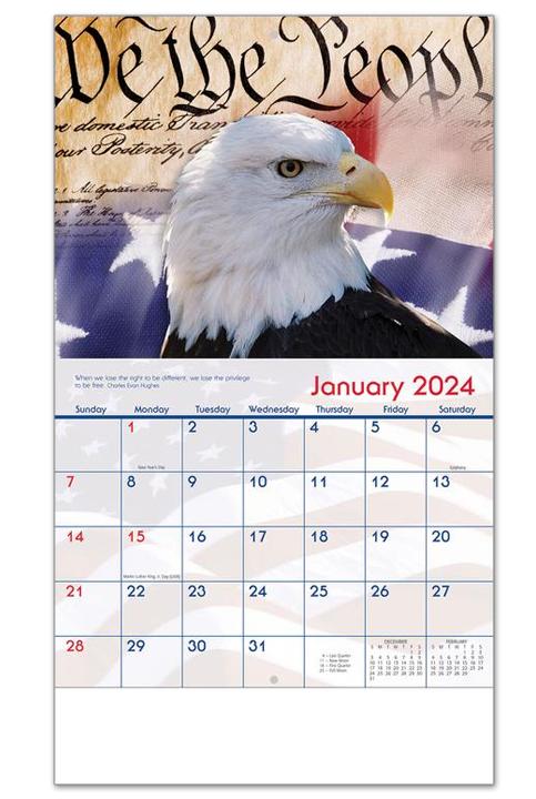 2020 America Calendar 10 1 2 Quot X 18 1 4 Quot Customized