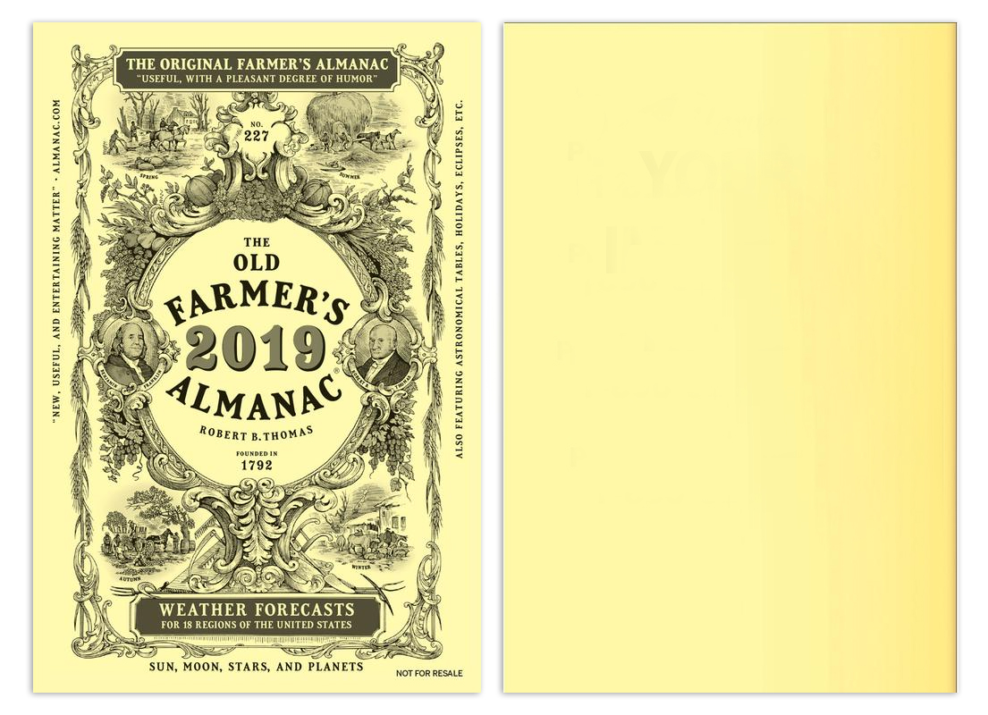 2019the Old Farmer 39 S Almanac Booklet Calendar 5 3 8 X 8 Customized Almanac Calendars