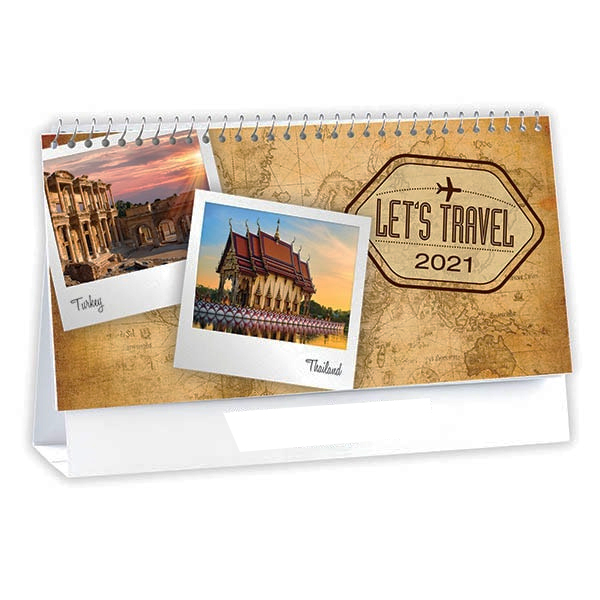 2020 Let S Glow Crazy Theme Kit: 2020 Let's Travel 6-Sheet Desk Calendar