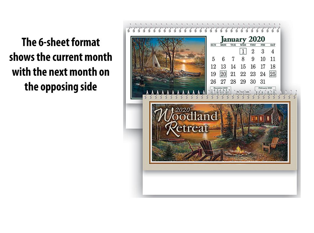 2020 Woodland Retreat Desk Calendar 6 1 4 Quot X 4 Quot Custom