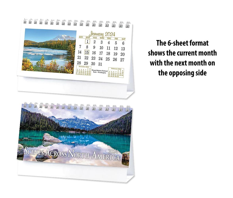 2020 Scenes Across America Desk Calendar 6 1 4 Quot X 4