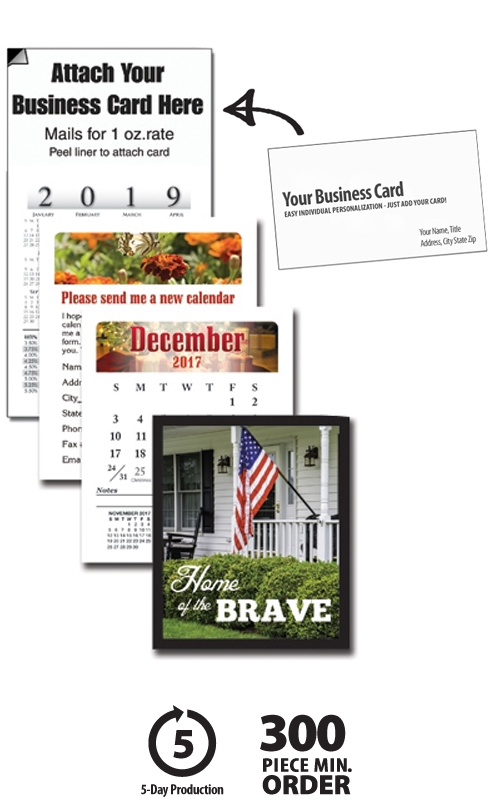 2017 multipurpose business card calendar bulk calendar for Business card calendar