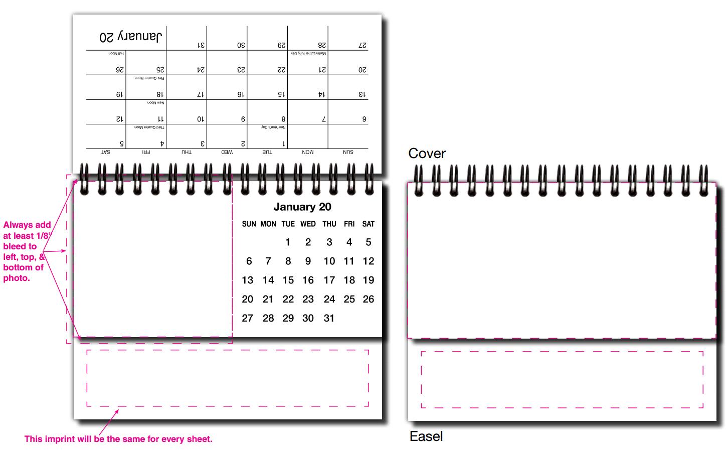 Table Calendar Size : Custom photo desk tent calendar quot open