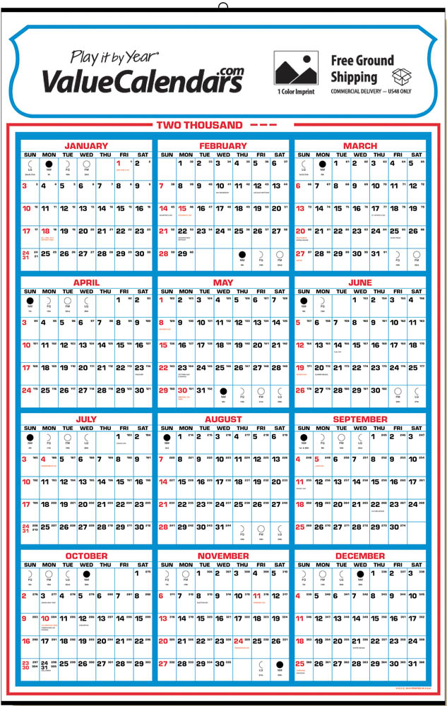 "2017 Yearly Memo Calendar | 22"" x 34"" Commercial Full Year View Wall ..."