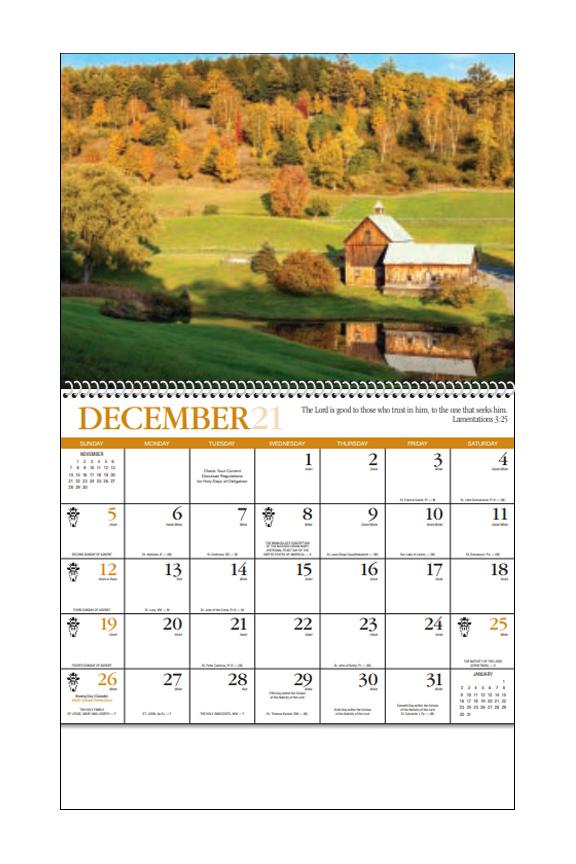 2020 Reflections Catholic Spiral Calendar 10 7 8 Quot X