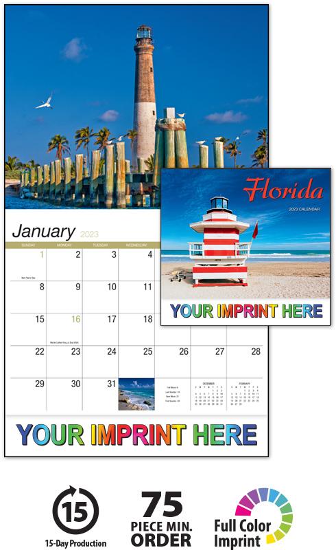 2020 Florida Calendar 10 7 8 Quot X 18 Quot Custom Imprinted