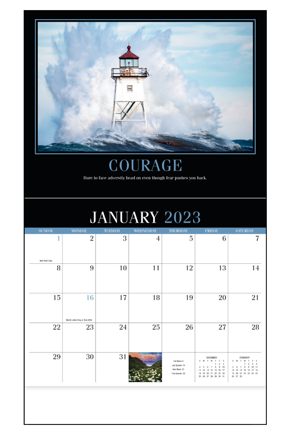 2020 Motivation Calendar 10 7 8 Quot X 18 Quot Custom