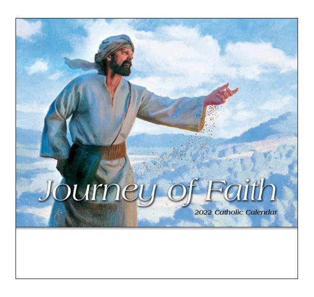 2020 Journey Of Faith Catholic Calendar 10 7 8 Quot X 18