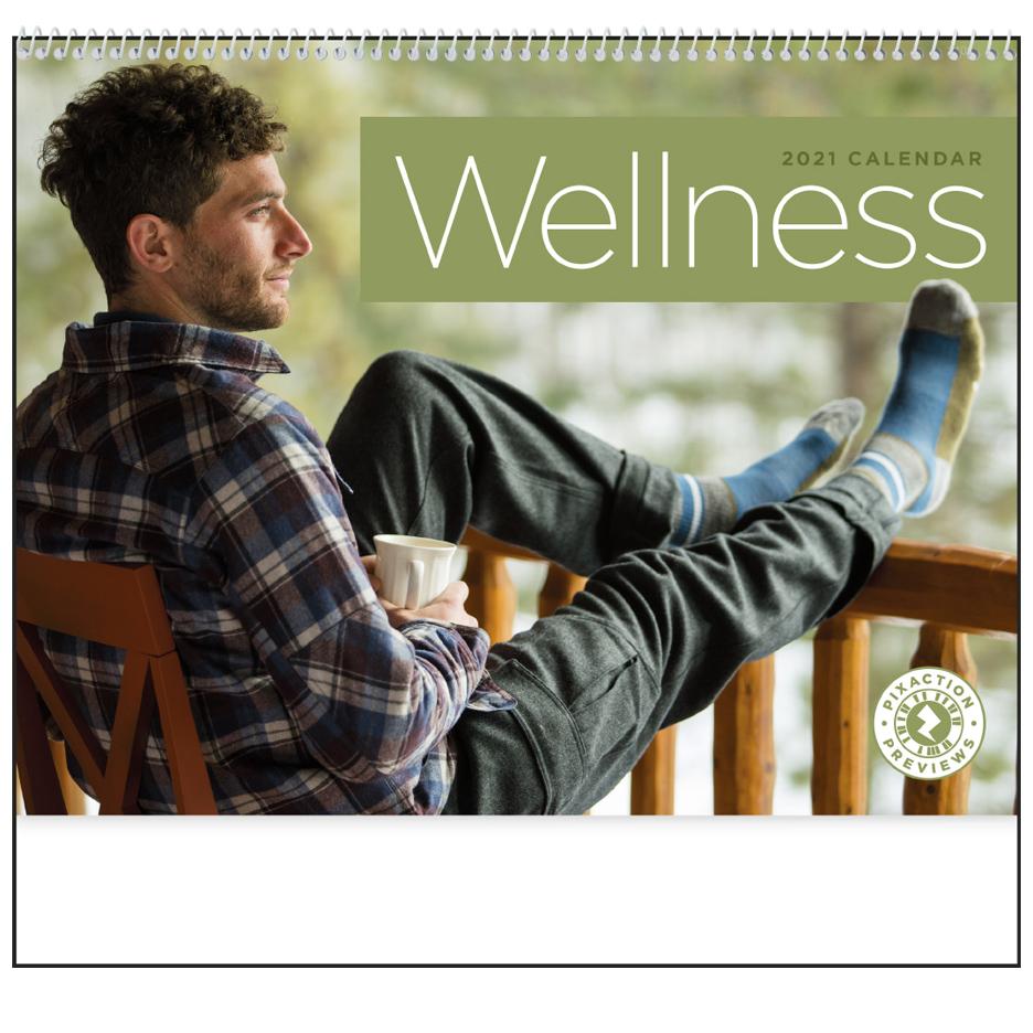 2020 Wellness Calendar 11 Quot X 19 Quot Imprinted Spiral Bound