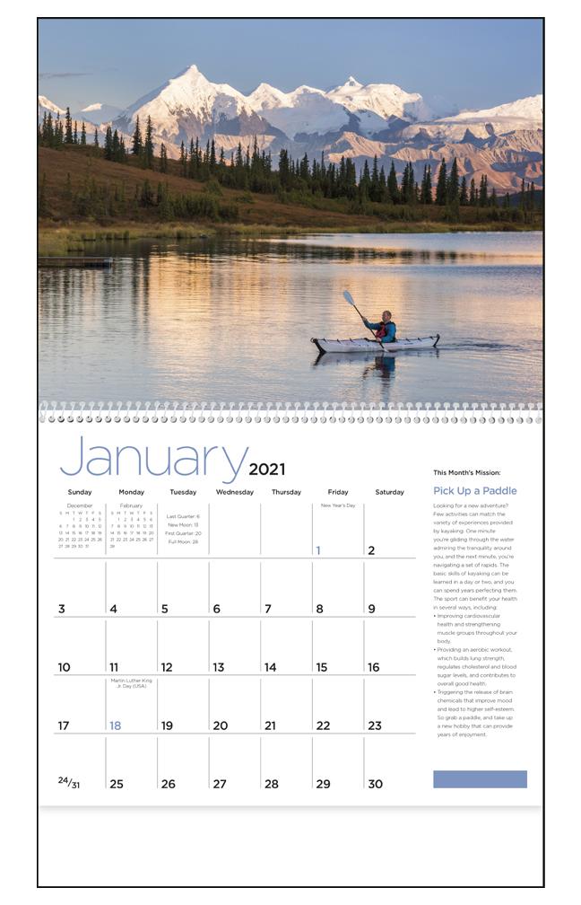 2019 Wellness Calendar 11 Quot X 19 Quot Imprinted Spiral Bound