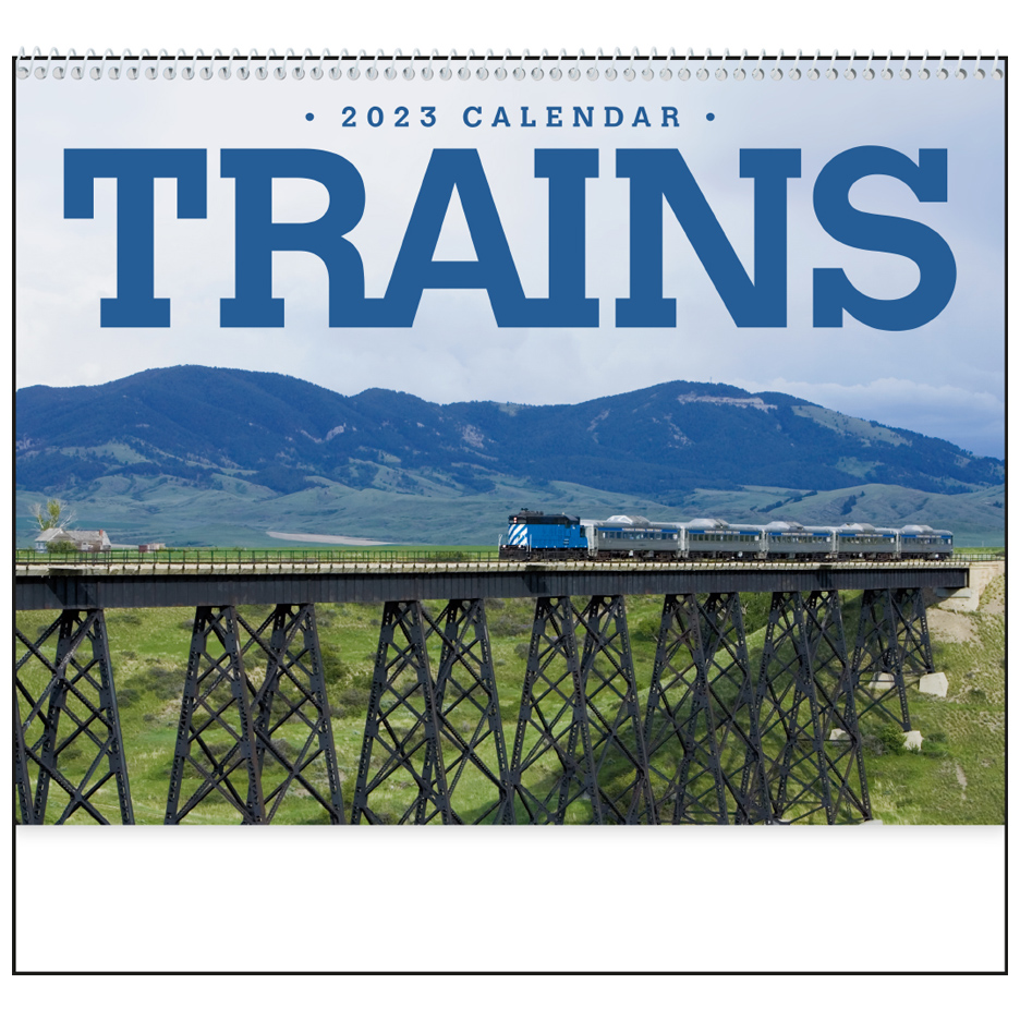 2020 Trains Calendar 11 Quot X 19 Quot Imprinted Spiral Bound
