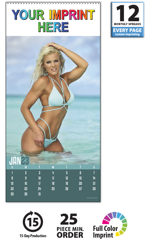 2020 Swimsuit Calendar 9 Quot X 19 Quot Imprinted Spiral Bound