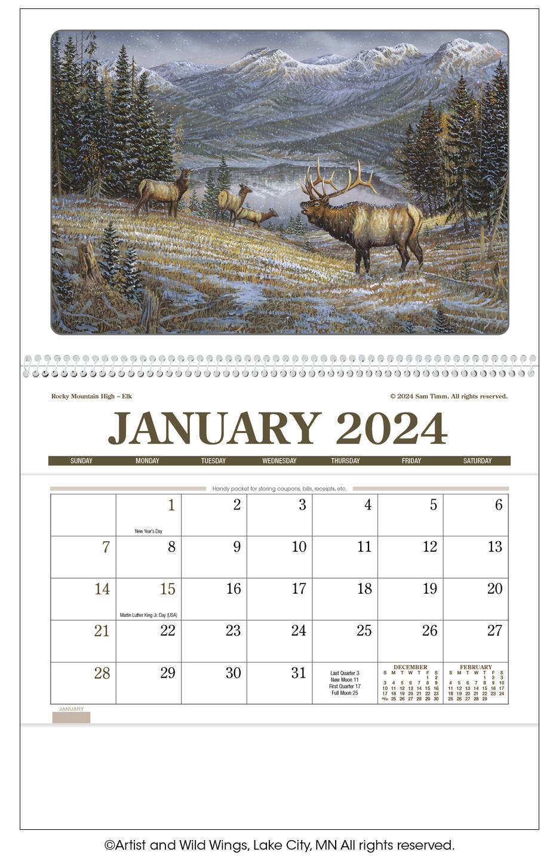 2020 Wildlife Art Pocket Calendar 8 Quot X 13 Quot Imprinted
