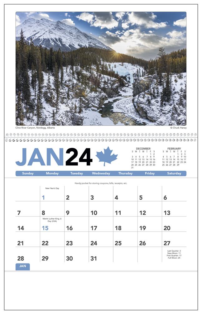 2020 Canadian Scenic Pocket Calendar 8 Quot X 13 Quot Imprinted