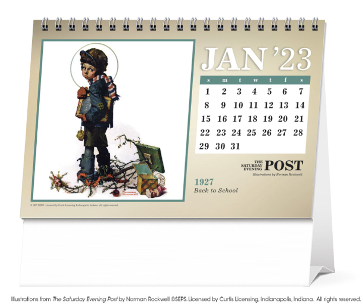 2019 the saturday evening post by norman rockwell large desk calendar 7 1 2 x 6 1 2