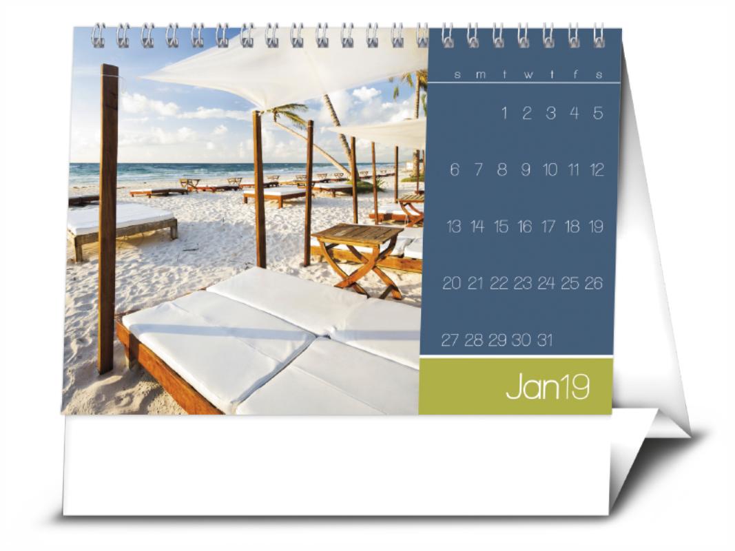 2019 Picture Flip Destinations Desk Calendar 7 1 2 Quot X