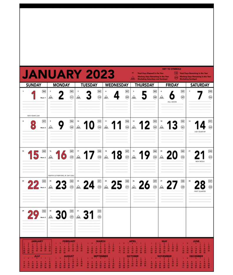 Calendar Red : Red black contractor memo calendar quot