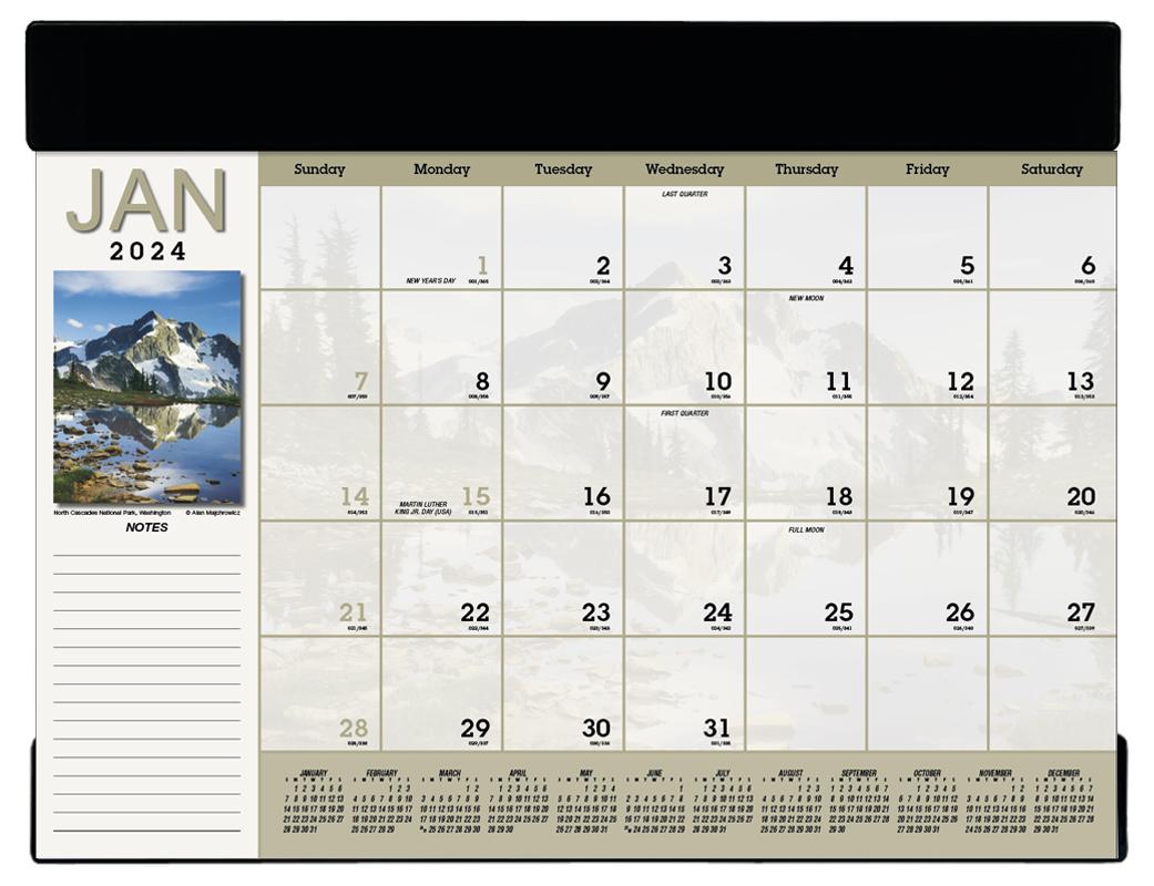 2020 Vinyl Scenic Desk Pad Calendar 23 Quot X 17 Quot Imprinted