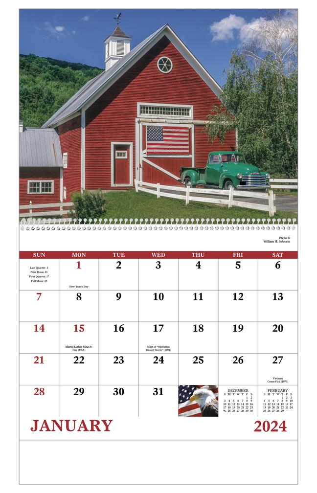 2019 Celebrate America Spiral Calendar 11 Quot X 19