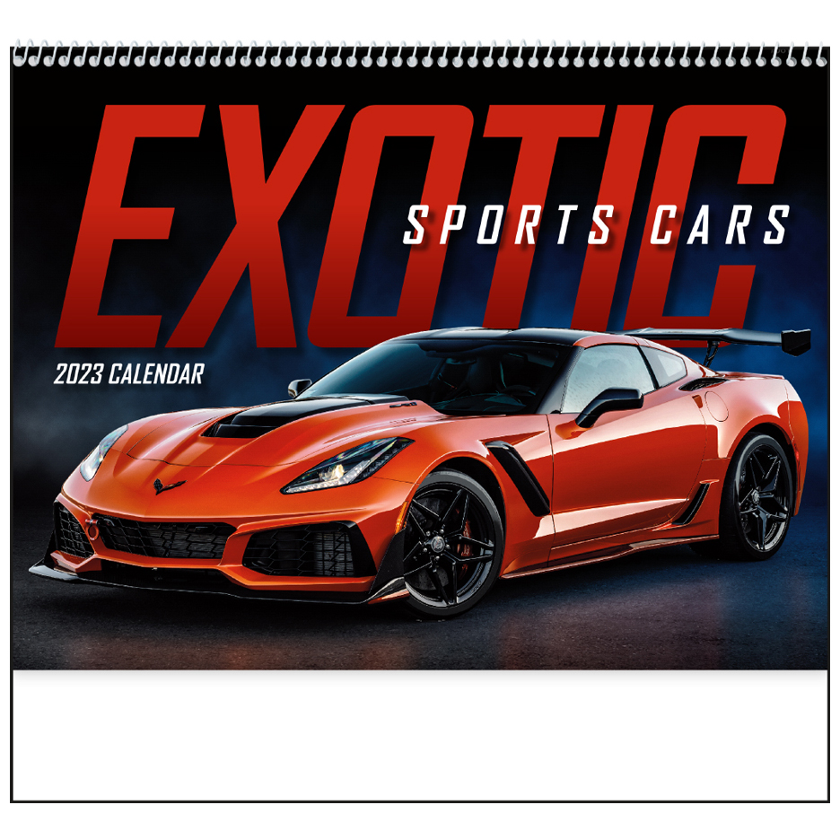 2020 Exotic Sports Cars (Spiral) Calendar
