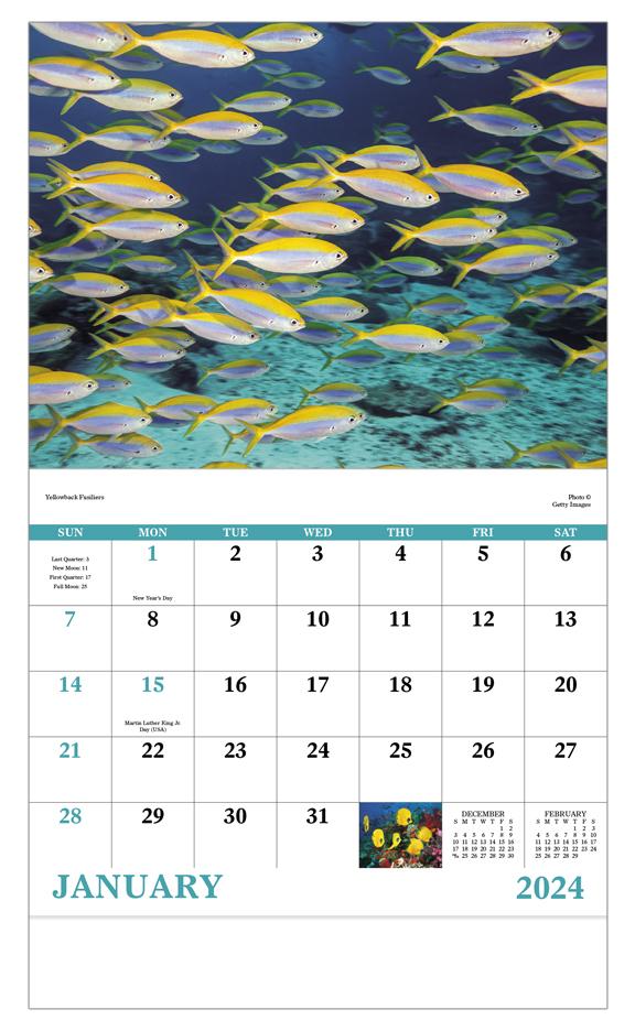 2019 Ocean Glory Calendar 11 Quot X 19 Quot Imprinted Staple