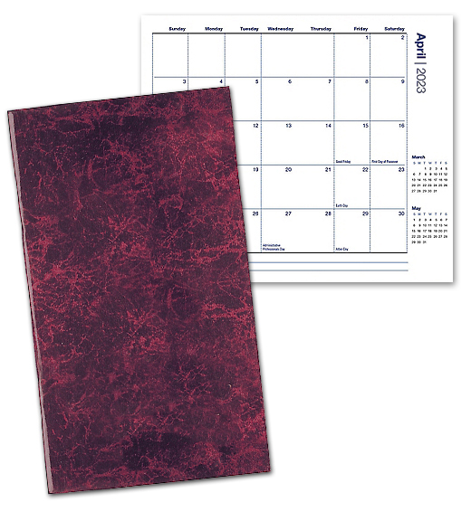 2020 seam stitched marble pocket planner  monthly