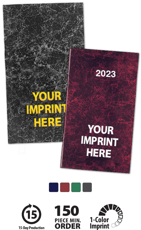 2020 Seam Stitched Marble Pocket Planner Weekly